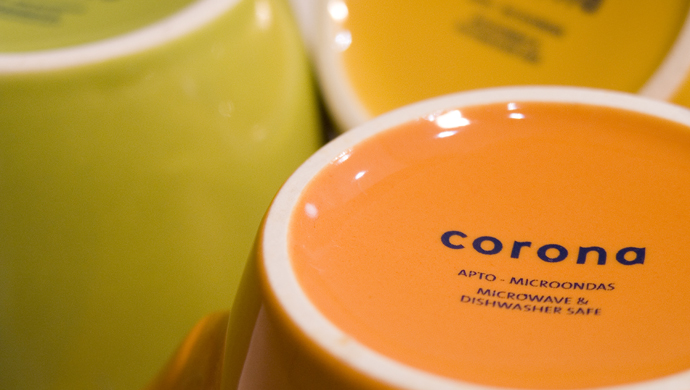 corona - A ceramics manufacturer repositions the brand under the concept of 'living spaces'.