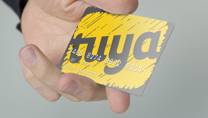 tuya - Creating a new brand for a credit card launched by a joint venture between a supermarket and a bank.