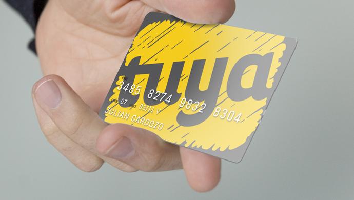 tuya - Creación de la identidad de marca para una tarjeta de crédito lanzada por una alianza entre un supermercado y un banco.