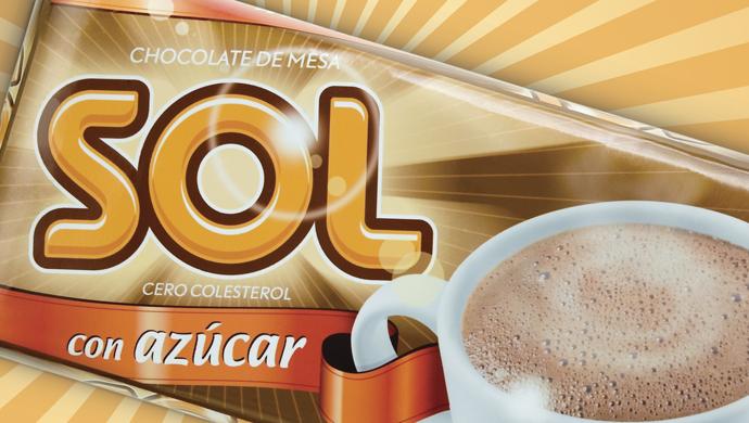 sol - Revitalización de la marca de un chocolate de mesa para proyectar una imagen más enérgica y joven.