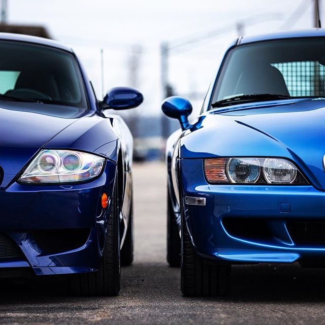 I truly enjoy the unique examples of #bmw that I get to shoot, specially these two. The #z3 is a 1 of 6 and the #z4 is a 1 of 12 ever produced in their configuration and features. But what makes it special is when a vehicle goes through the enthusiast auto group process. After all the hours of service and restoration I feel confident to show the work that each employee has been assigned and took great pride in performing. In the end providing only the best experience! When only the best will do turn to the true enthusiasts // @eagbmw #bmwz3 #bmwz4 #mcoupe #bmw #msport #s54