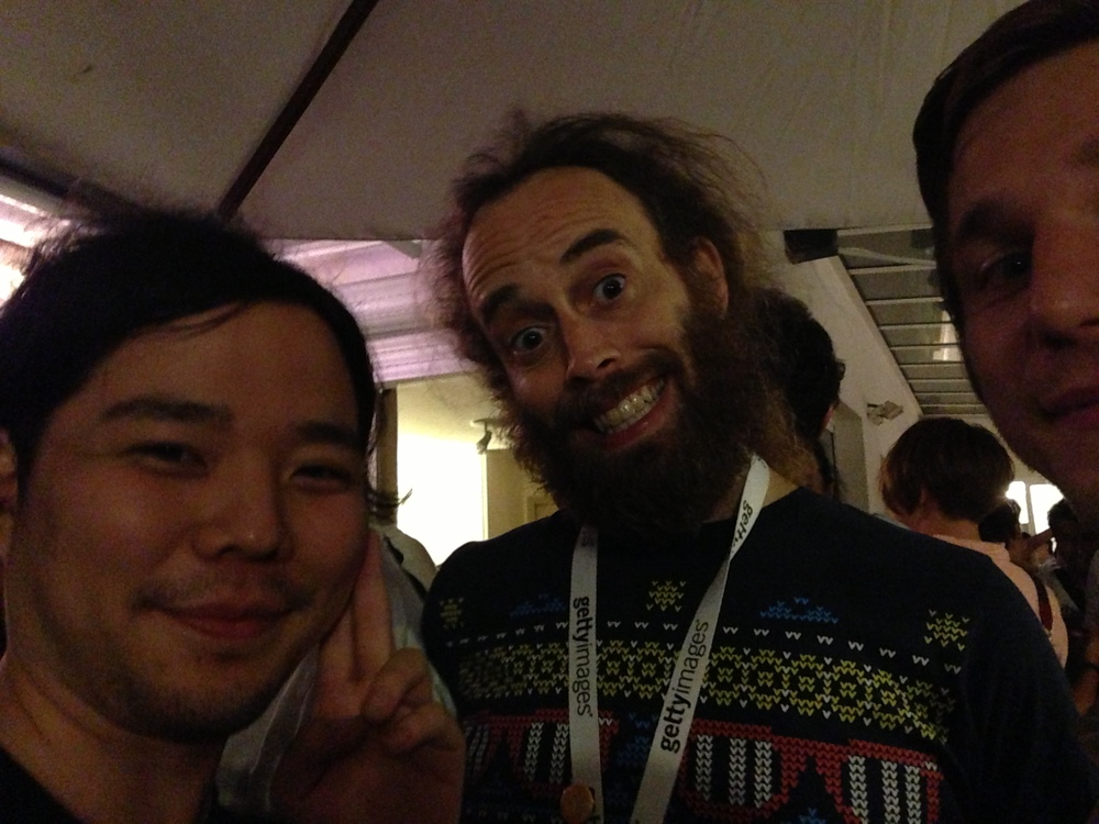 Excited to meet three of our heros in one place: Satoru Higa, Neil Mandoza, and Marek Bereza at Cannes Lions festival.