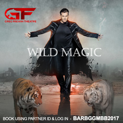 The Greg Frewin illusion spectacle is breath-taking which features illusions that are both one of a kind and internationally renowned, performed by the International Grand Champion of Magic, Greg Frewin. Book using Partner ID & Log In:  BARBGGMB2017