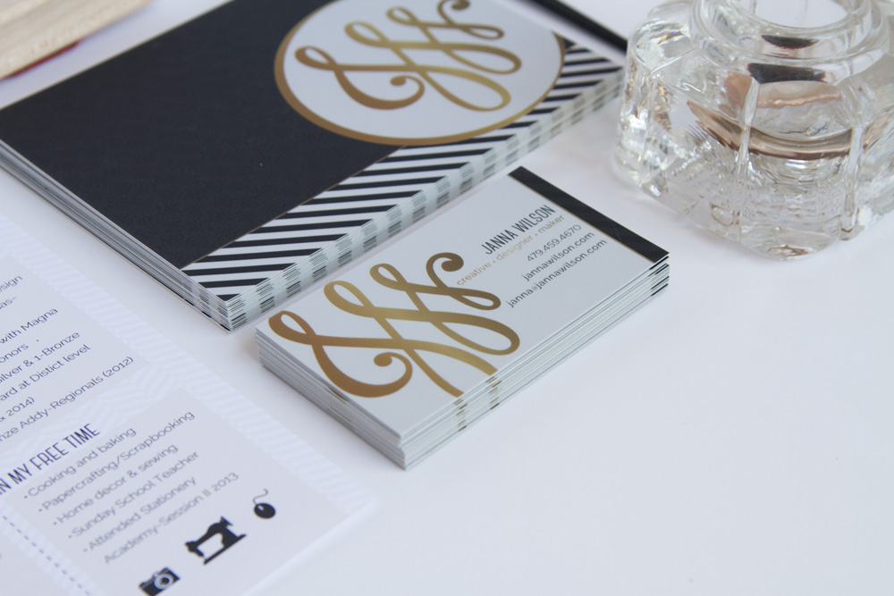 Personal Identity - business cards and notes