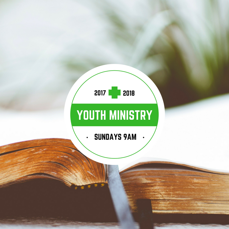 Youth Ministry - Starts Sept 10th at 9am.Bible study. Learning. Service. Fun. Community. Students in 6th grade and above.