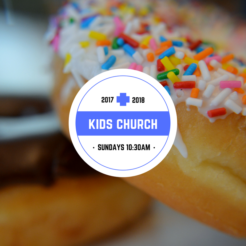 Kids Church - Sunday School for preK through 5th grade at 10:30am.Kids worship with parents at 10:00am and then meet for Kids Church after a kids message.