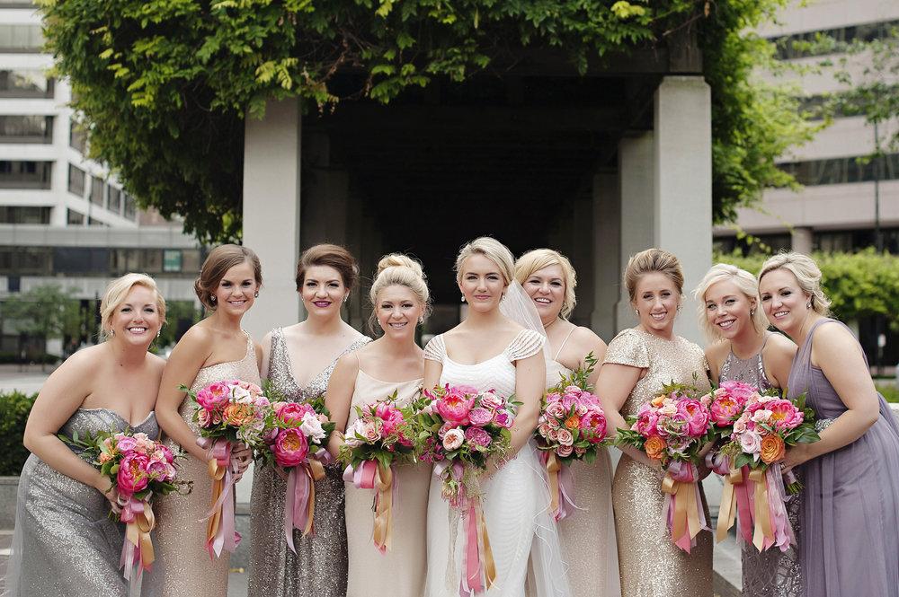 Bridal Party at Hilton Netherland Plaza