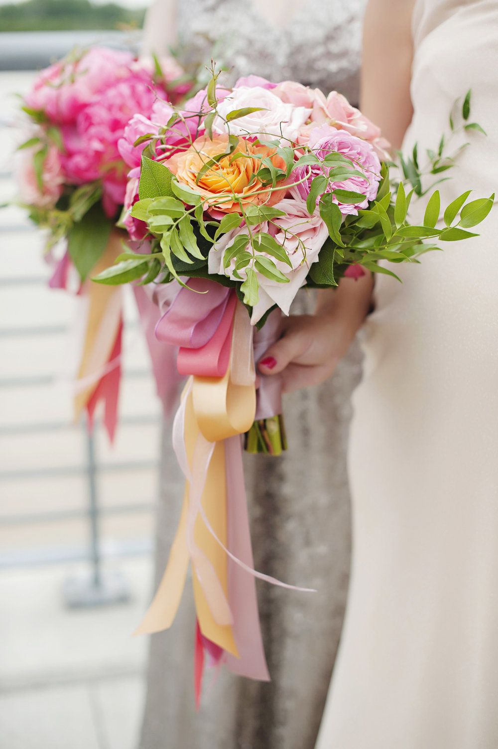 Colorful Bridesmaid Bouquet at Hilton Netherlands Plaza