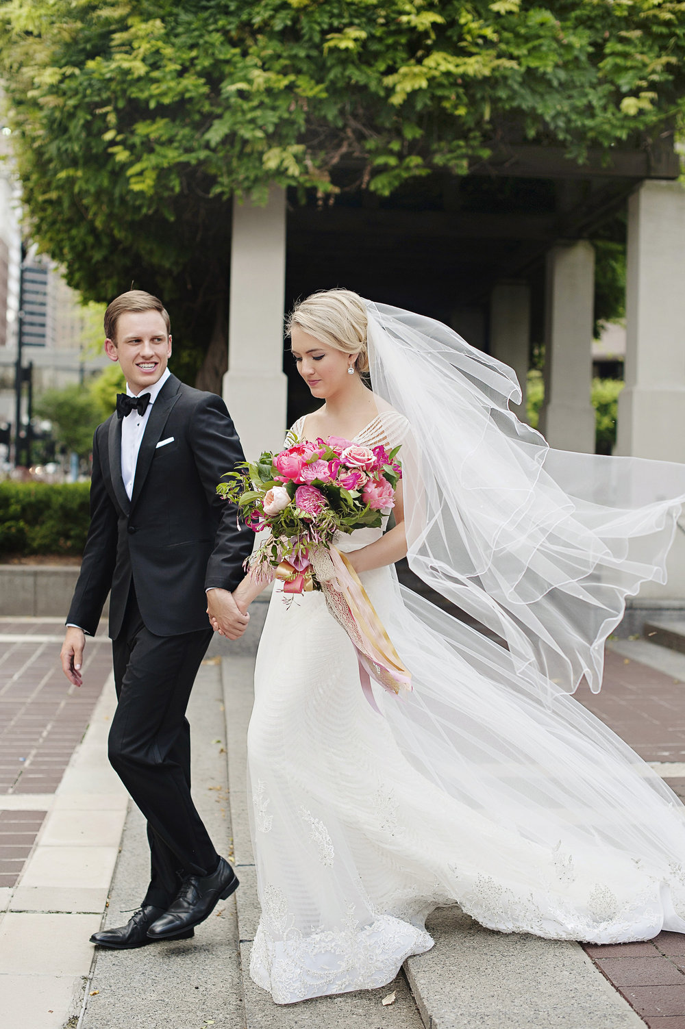 Bride and Groom Wedding shots at Hilton Netherland Plaza