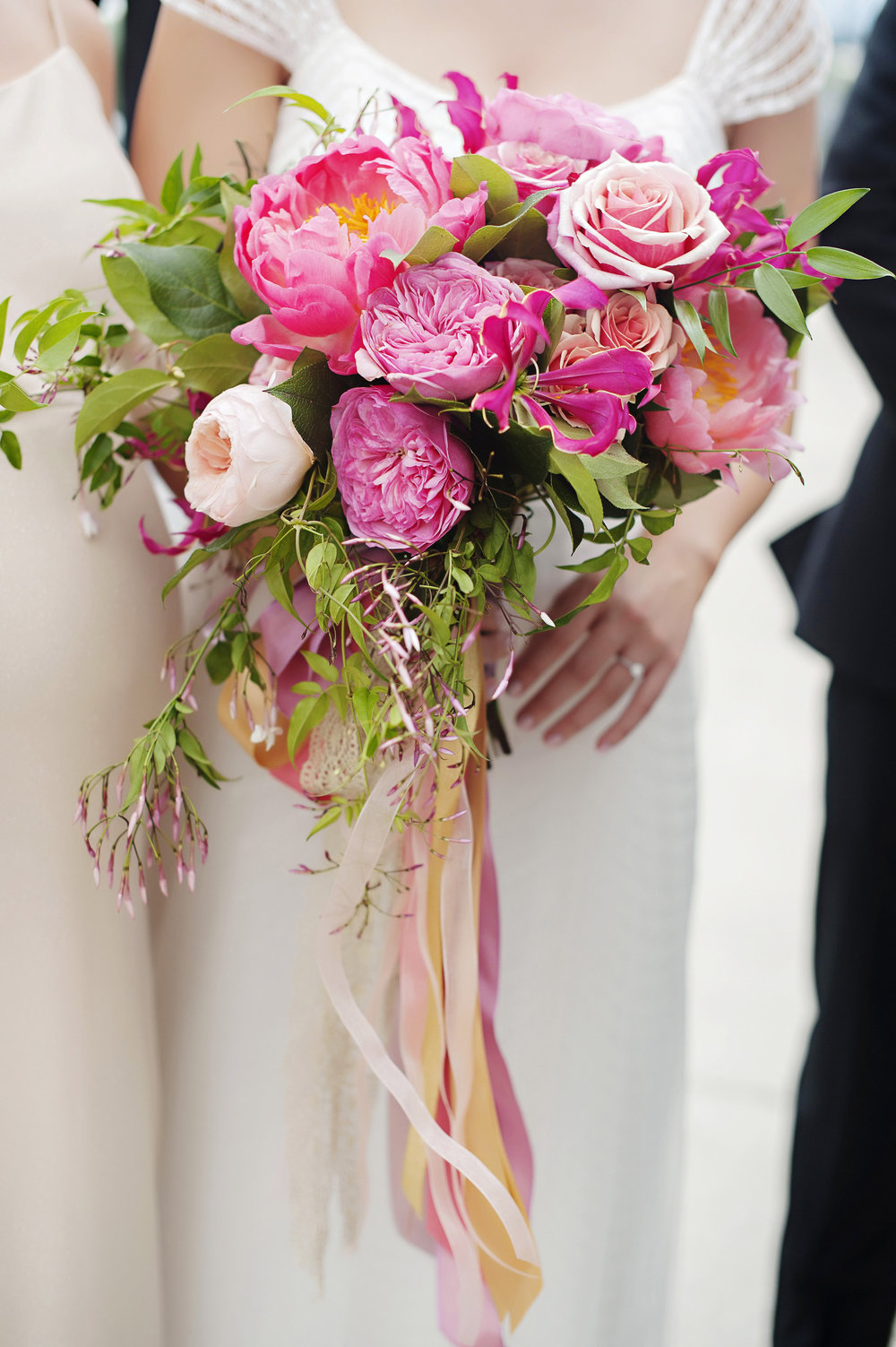 Vibrant and Colorful Bride Bouquet at Hilton Netherlands Plaza