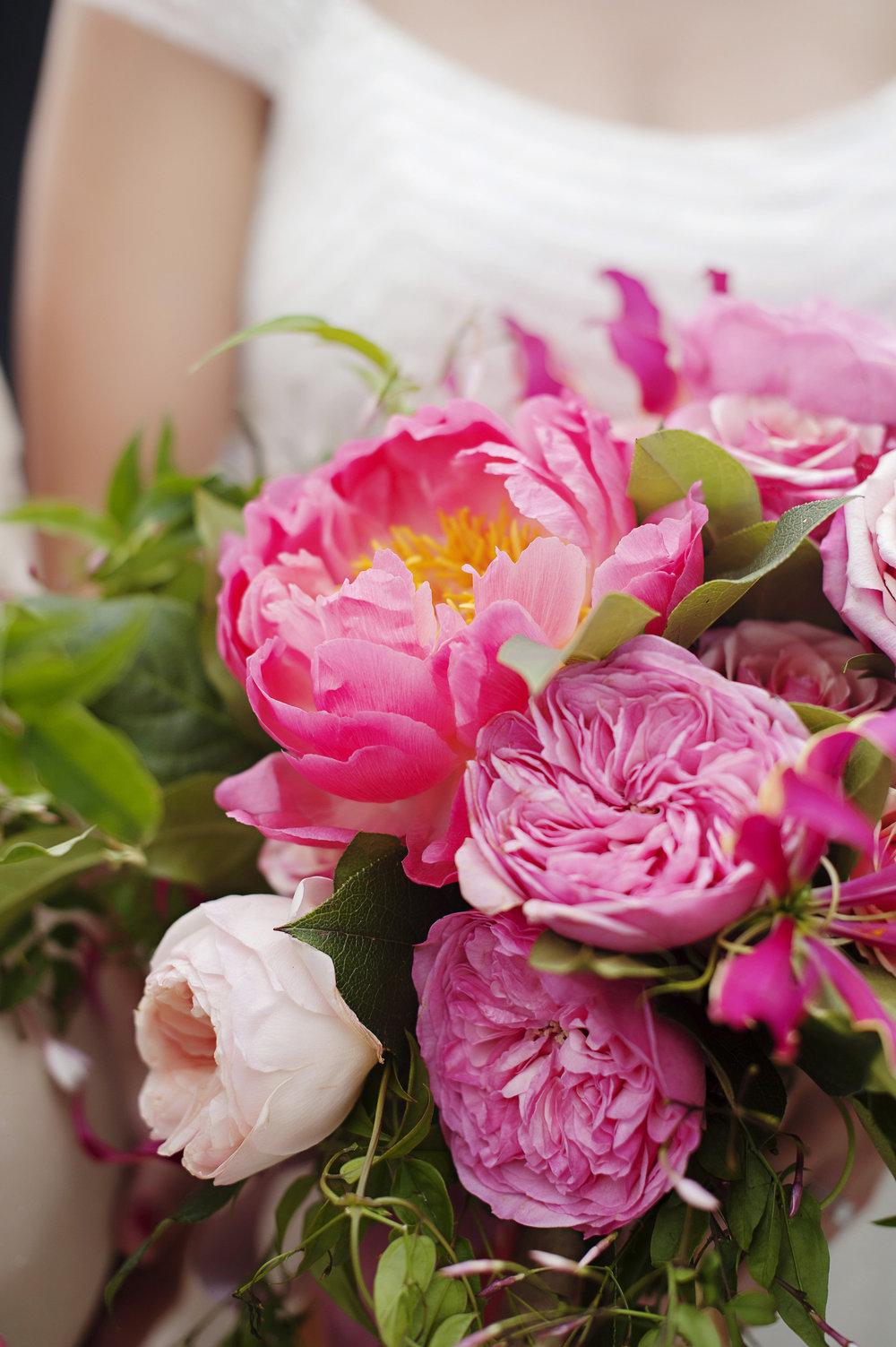 Bride Bouquet Close Up at Hilton Netherlands Plaza