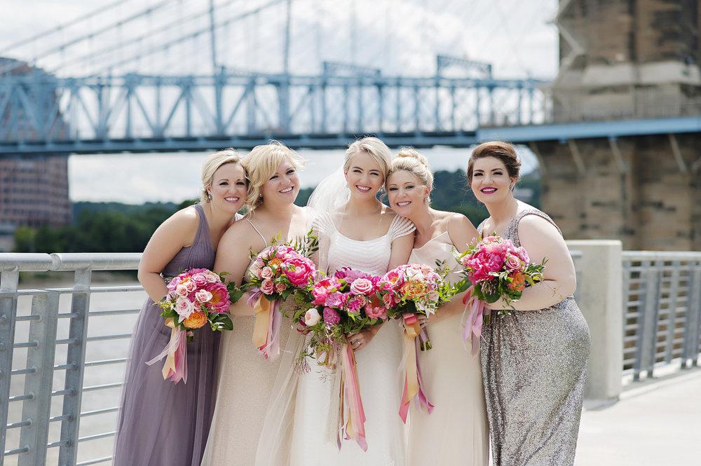 Bridal Party shots in Cincinnati