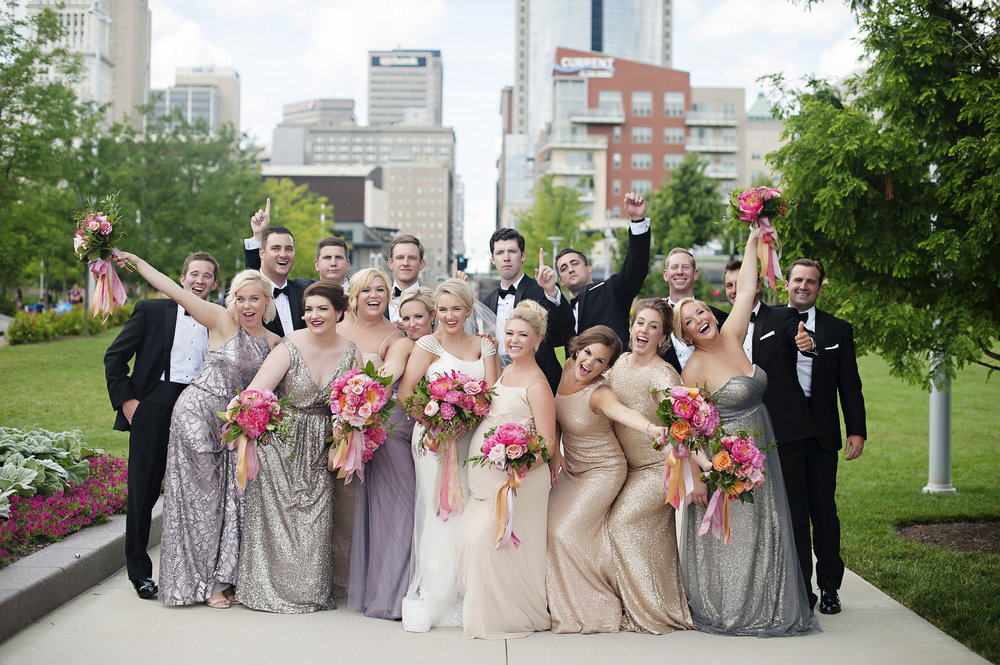Wedding Party Shots in Downtown Cincinnati