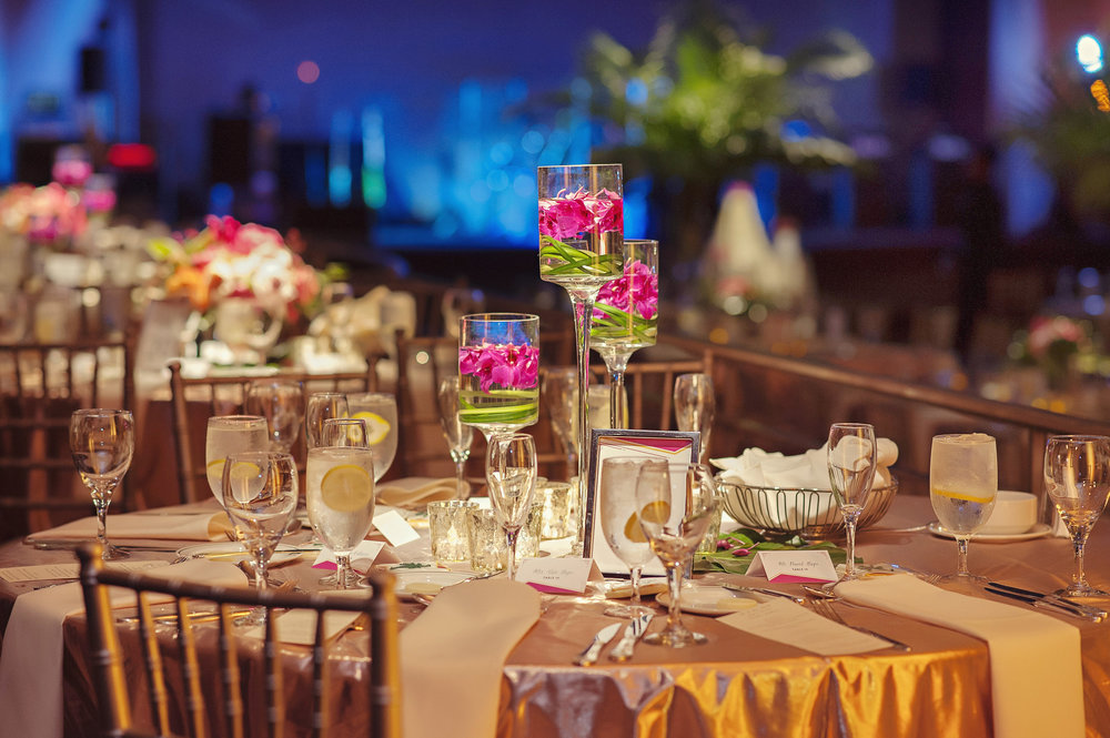 Table Center Pieces at Hilton Netherland Plaza