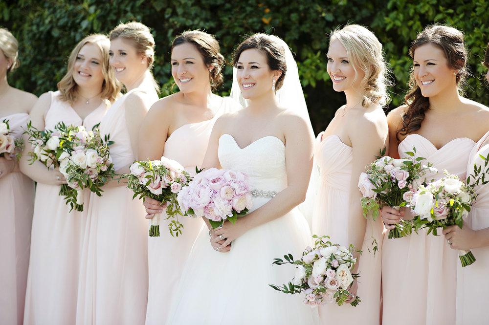 Garden Theme Wedding Bridal Party at The Renaissance