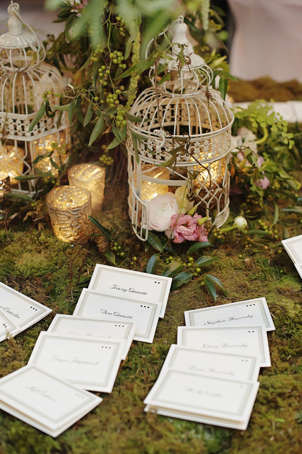 Garden Wedding Card Table At The Renaissance