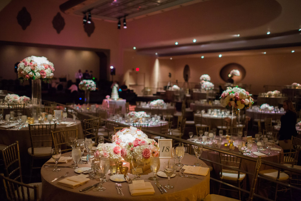 Reception Hall Wedding Pink theme