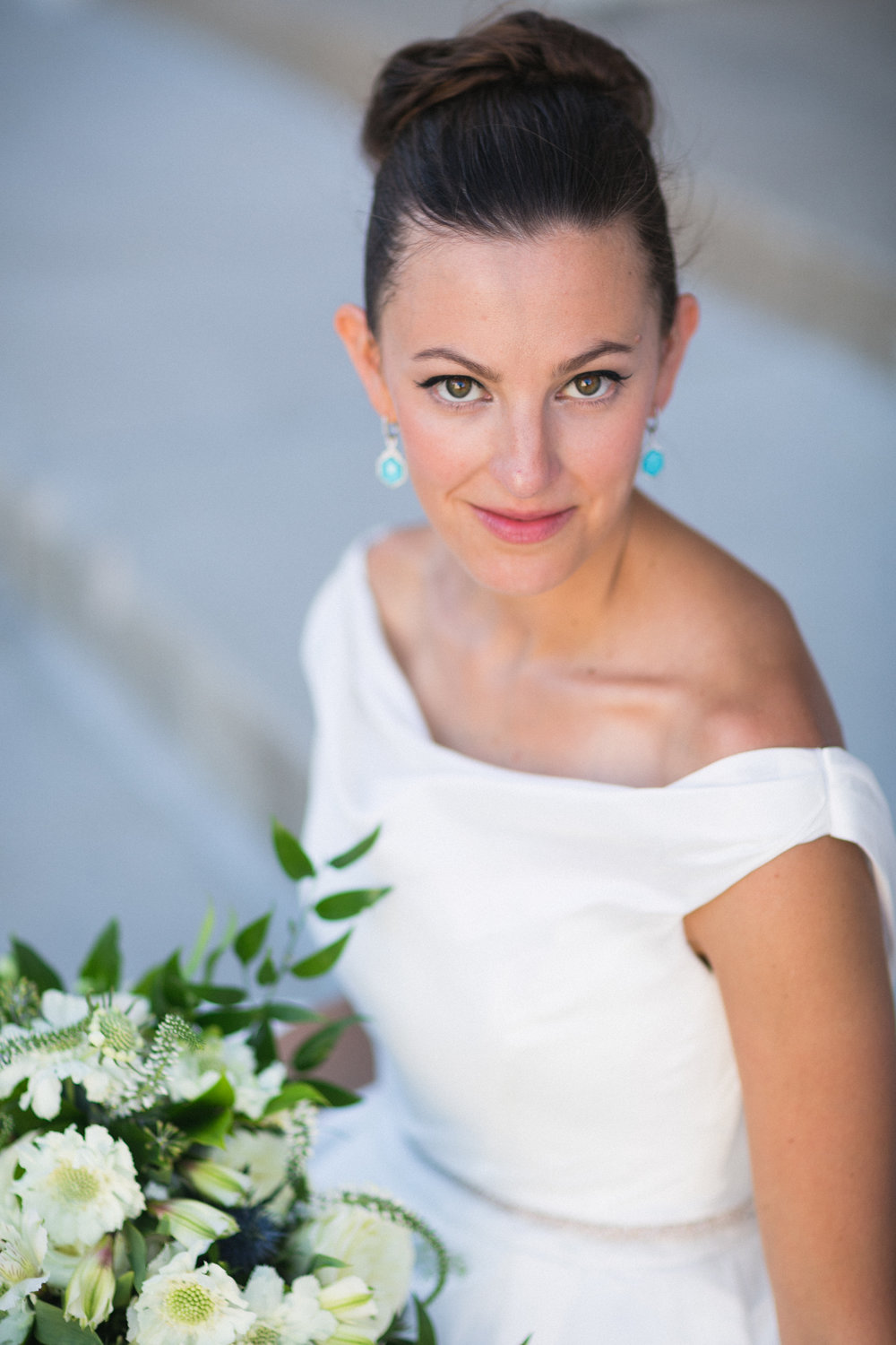 Bride Molly with Bouquet at The Monastery