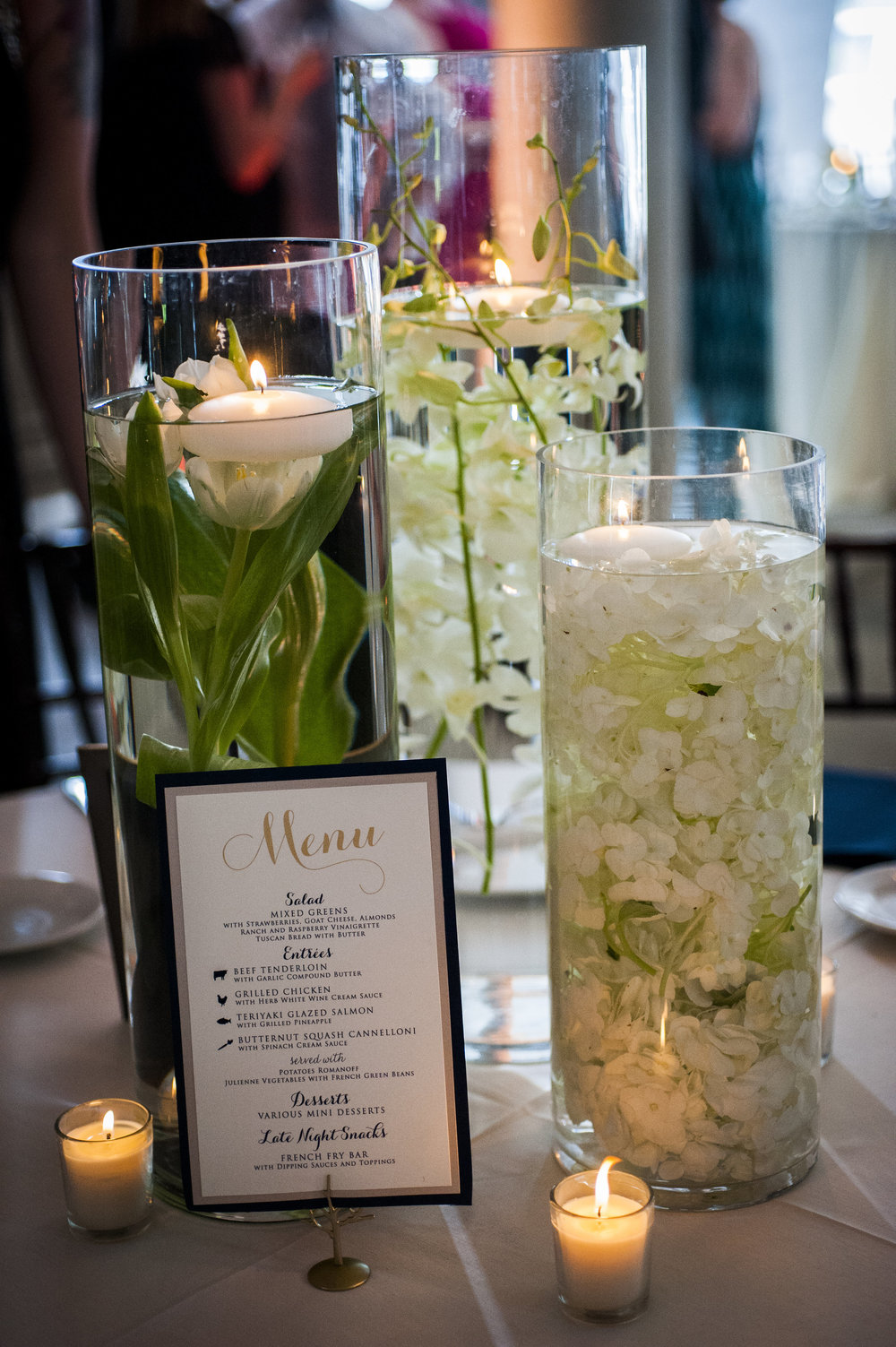 Table Centerpieces for Park Wedding