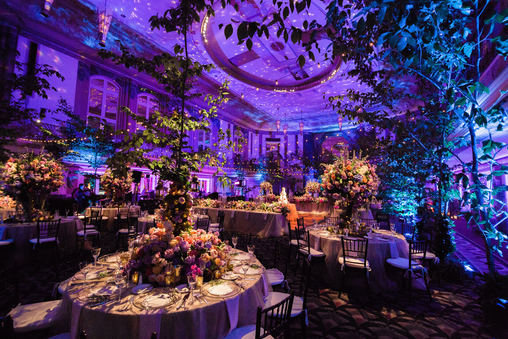 Gorgeous Wedding by Courtenay Lambert Floral and Event Design Mid Summer Night's Dream Enchanted Forest at Hilton Netherland Plaza Hall of Mirrors Cincinnati Ohio