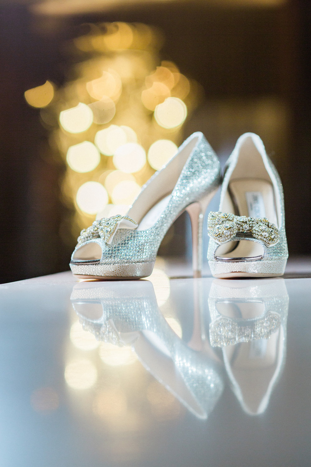 Bridal Shoe shot at The Hilton Netherland Plaza Hotel Cincinnati, OH