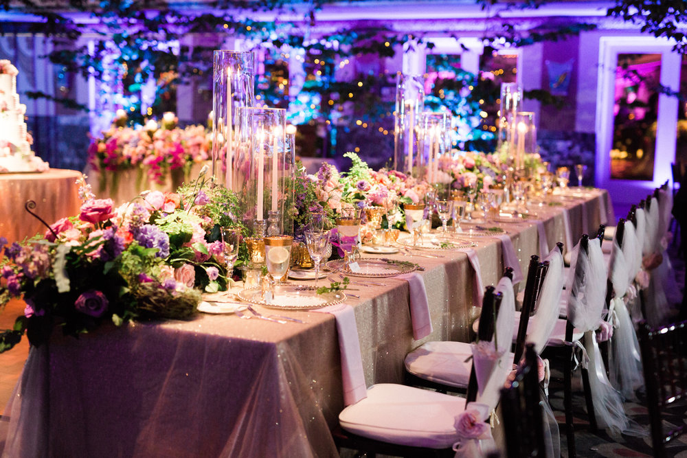 Reception Head Table at The Hilton Netherland Plaza Hotel Cincinnati, OH