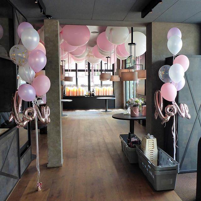 #hochzeit #love #rosa #pastell #ballon #folienballon #deko #ballonboxag