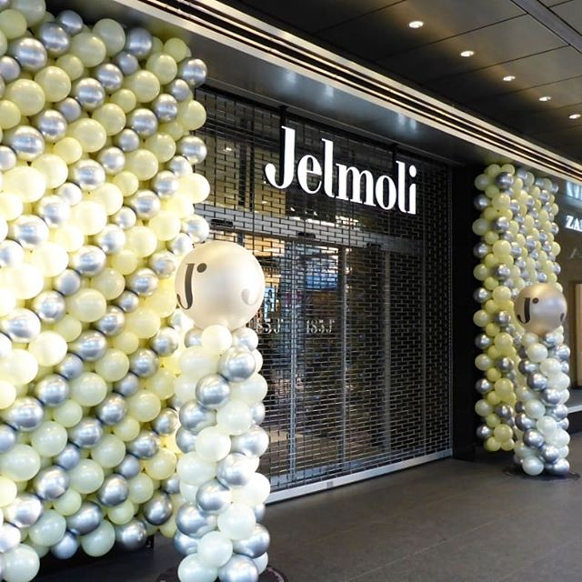 #jelmoli #bahnhofstrasse #zürich #silber #vanille #ballonwand #wand #ballonsäule #säule #ballongirlande #girlande
