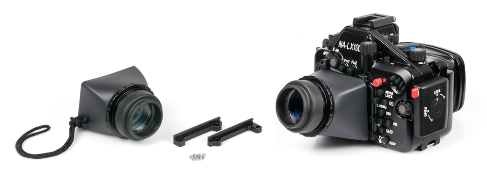 Optional LCD Magnifier with Dioptric Adjustment and Attachment Rails for the NA-LX100 housing.
