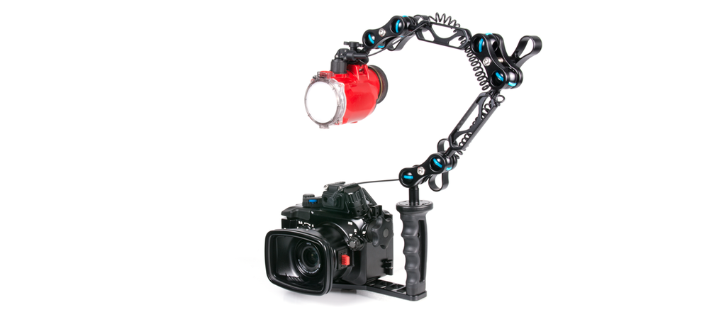 The NA-LX100 configured with a single Inon S-2000 strobe.