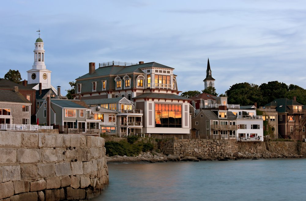 The Shalin Liu Performance Center, as seen from Rockport harbor. (Courtesy Robert Benson)