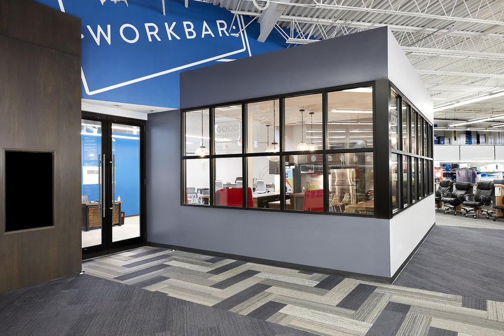 One of the new Workbar @ Staples spaces, which opened last summer.