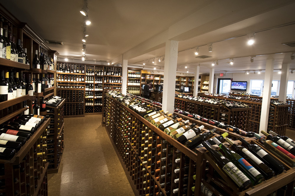 The interior of the Essex Wine Exchange. (Photograph by Jackson Mitchell)