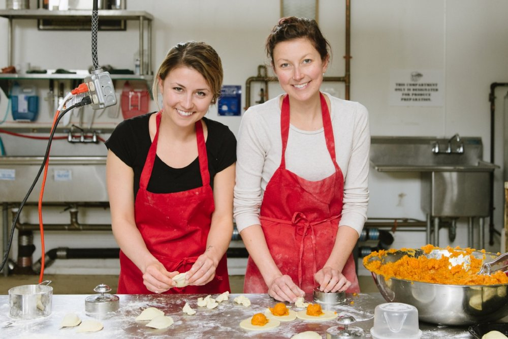 Casey (left) and Vanessa White, founders of Jaju Pierogi. (Photograph by Katie Noble)