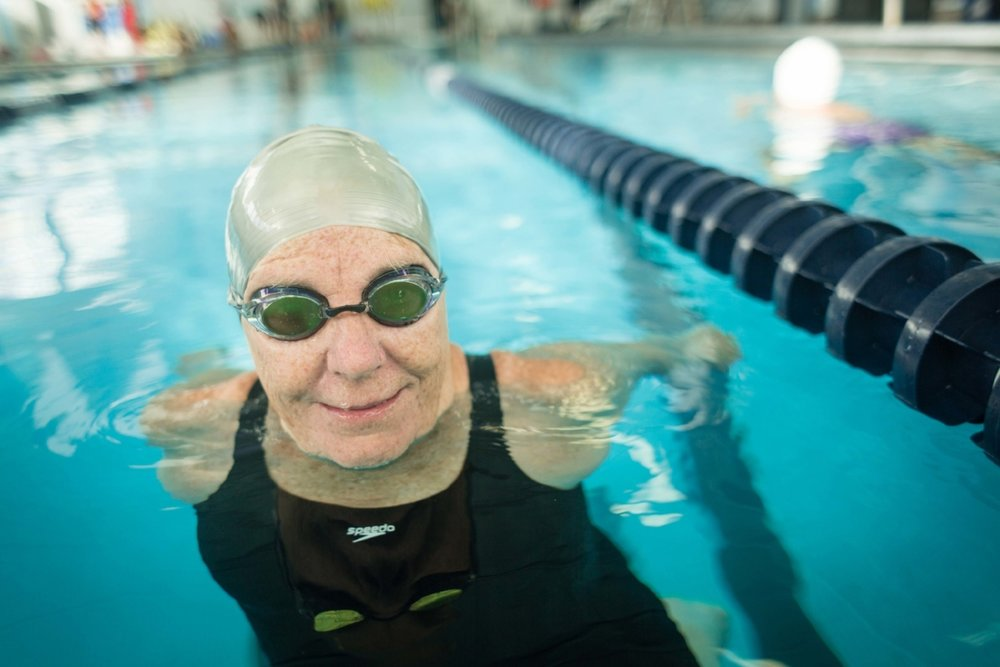 Slifer names Esther Williams, as well as English Channel swimmers Gertrude Ederle, Amelia Corson, and Florence Chadwick as early role models. (Photograph by Jason Grow)