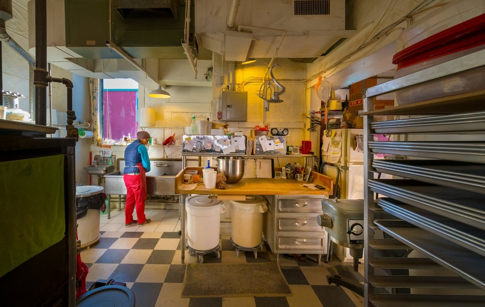 Alexandra's keeps things simple: just four hands and a couple machines. (Photograph by Steve Marsel)