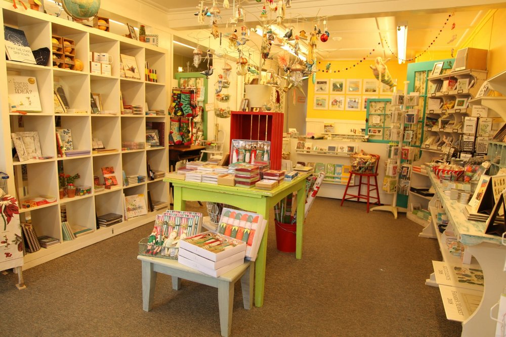 The interior at The Paper Mermaid shop in Rockport. (Photograph by Dana Smith)