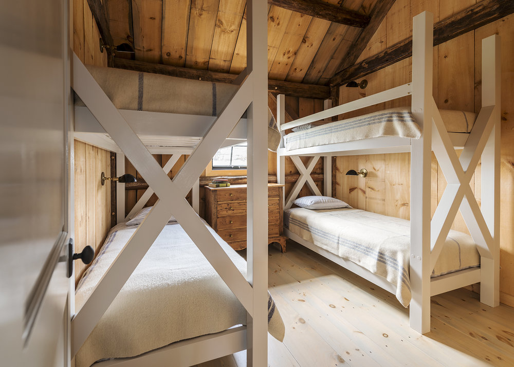 The kids' bunkroom is perfect for sleepovers. (Photograph by Nicole Whitten)