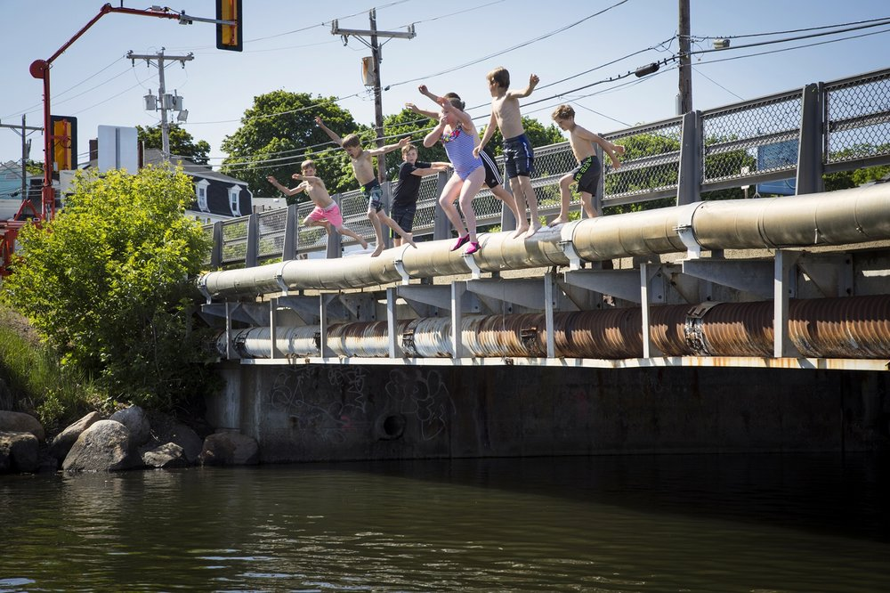 Jumping off the bridge is a childhood rite of passage and summer tradition in Essex.