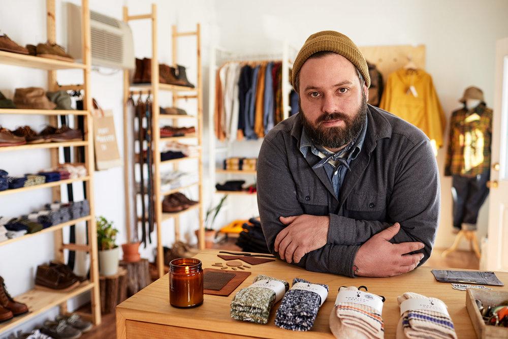 Dan Heselton, owner of Beaux Biens. (Photograph by Jonathan Kozowyk)