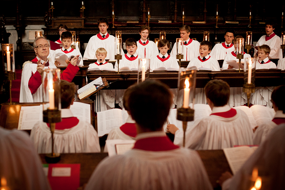 Stephen Cleobury CBE conducting the Choir. Photo © Benjamin Ealovega