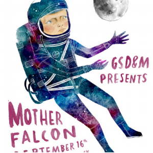 Mother falcon poster design