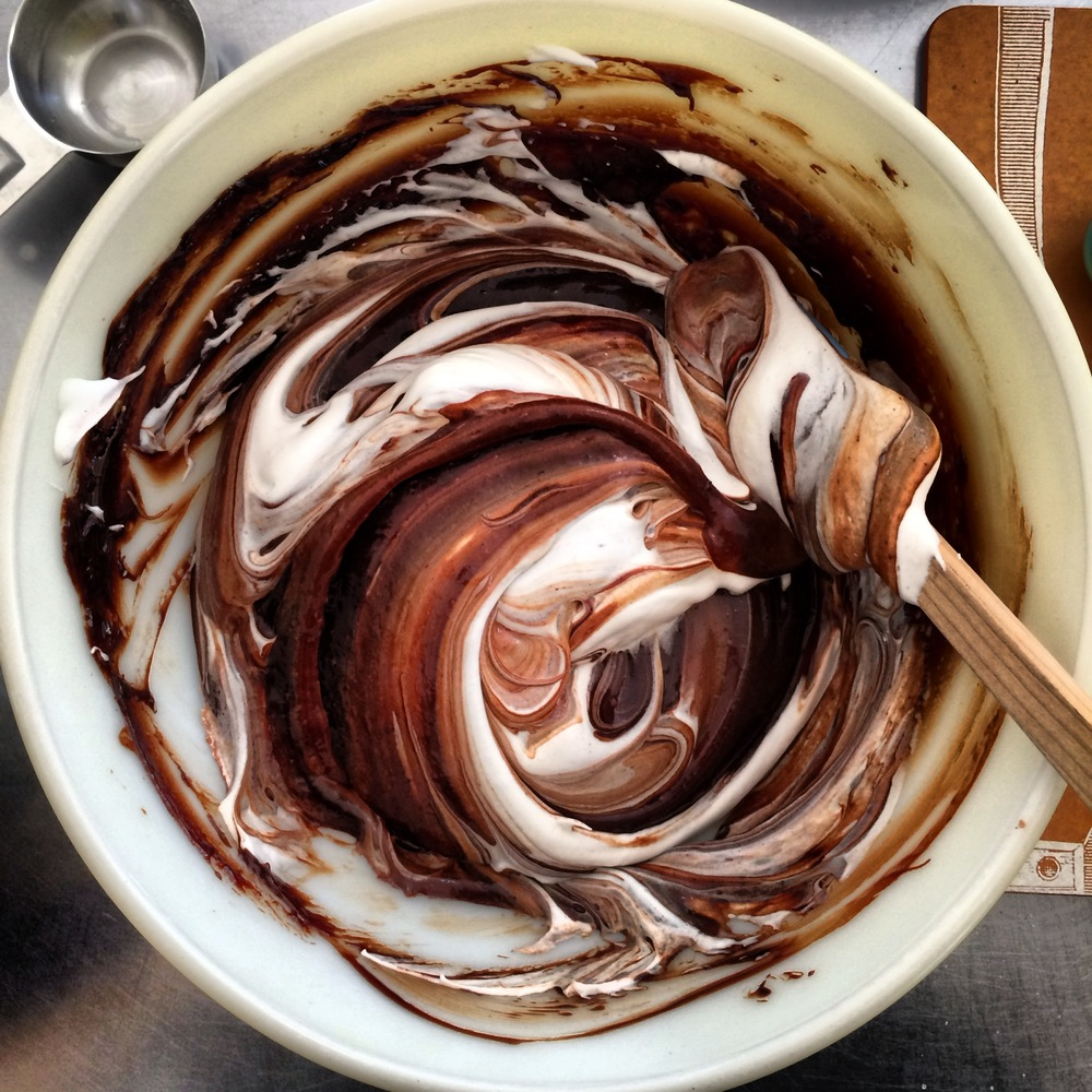 Chocolate egg white swirls...