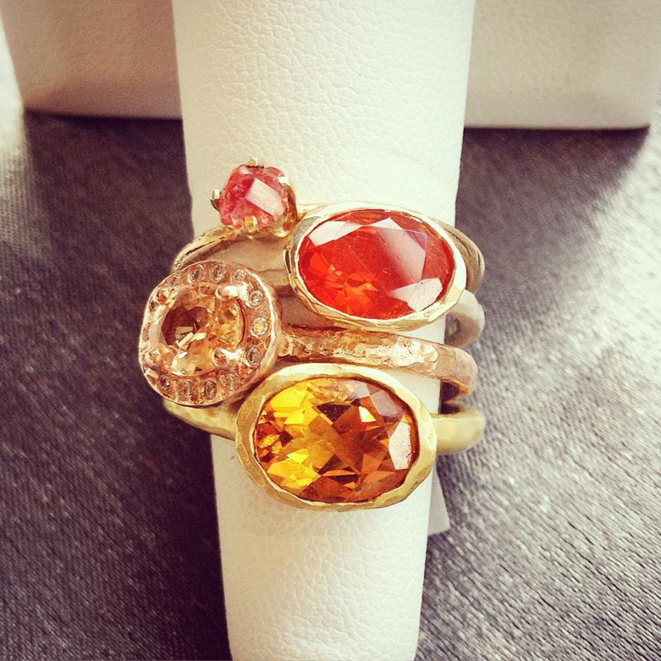 Orange stack at Gallery of Jewels