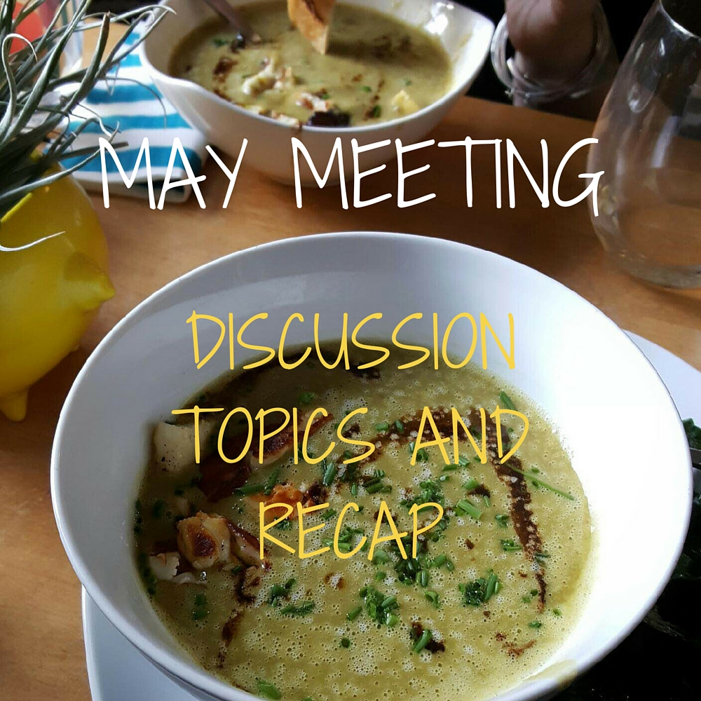 We chatted biz growth over amazing pea soup with grilled halloumi cheese.