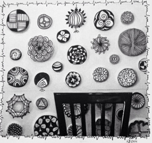 I'm crazy for this wall in a restaurant in Florida. I'm crazy for Lucy Banta's take on it!