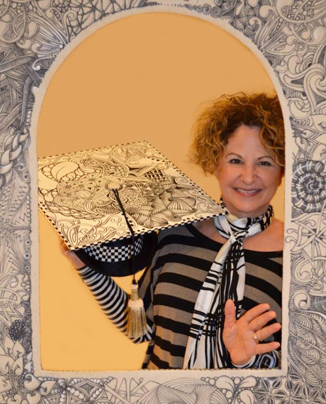 Sindy P. graduating from the Certified Zentangle Teaching program, located in Providence, RI.