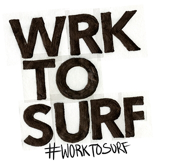 #worktosurf  is a personal project dedicated to bring an online voice to all the surfers out there who aren't being to surf but still devote their life to the sport. This online community it almost serves as a sponsor for the sponsor less passionate surfers. All those surfers who have to wake up super early to get a session before work, save money to buy a board or go on a once in a lifetime surf trip.  Work To Surf it's slowly becoming a rising movement and we are super proud to be part of it and super excited to continue growing the initiative until one day it becomes something more than a hashtag.  On the right you can see some of the photos we get with our hashtag every single day from all over the world. People are loving the movement and love to be featured on our feed.