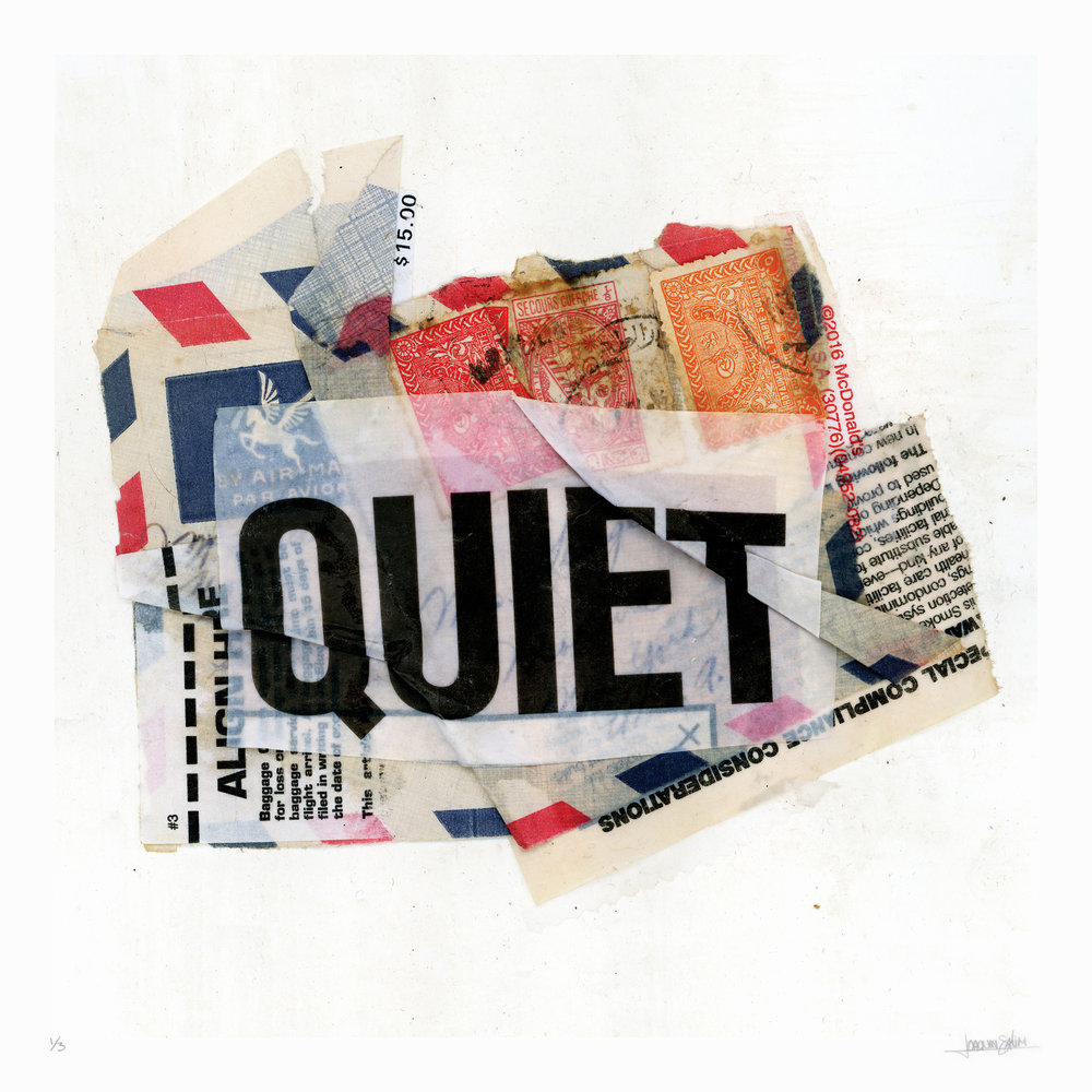 QUIET|  40 X 40 IN  |  ARCHIVAL PIGMENT PRINT ON COTTON PAPER  HAND FINISHED |  EDITION OF 3