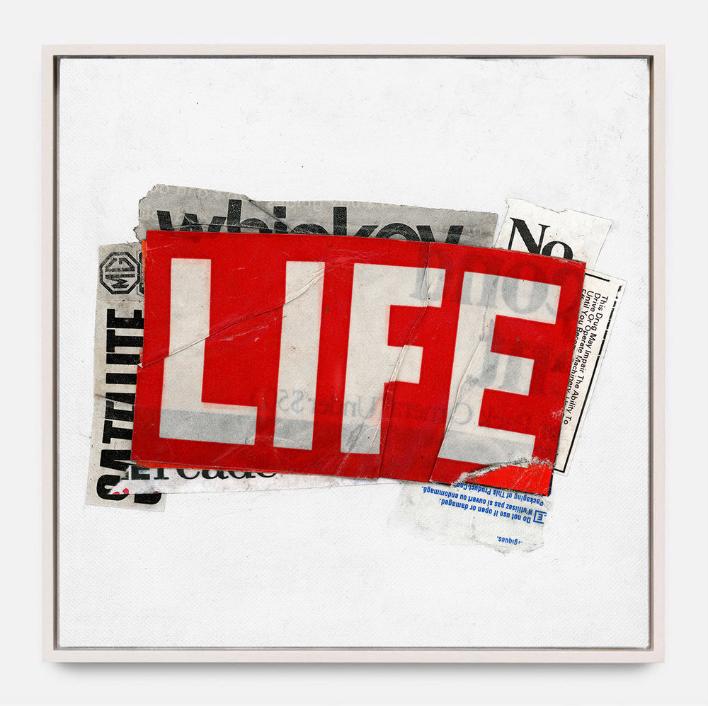 LIFE  (2018) Mixed Media on Wood Panel 36 x 36 inches Edition of 3 |  *SOLD OUT  $ 1,700.00